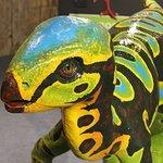 Up close dinosaur