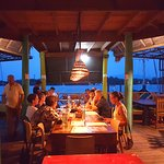 The view at the Restaurant at Tortugal is from the Bridge to Castillo san Felipe San Felipe