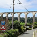 The Calstock railway viaduct from near Lishe