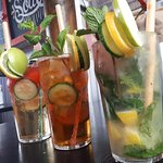 Cocktails and Homemade Rooibos Ice Tea available