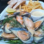 Mussel Main with skinny fries and ciabatta to mop up all that lovely sauce