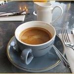 القهوة الأمريكية بالحليب