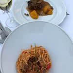 lobster linguine and beef