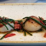 Scallops worth a try.