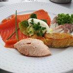 Platter of local smoked fish