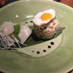 Amazing dish, crab, Scallo, quail egg, amazing!