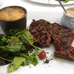 entrecote sauce camenbert et petit gratin doffinois