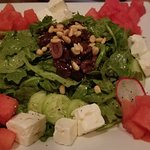 Watermelon salad was huge, delicious and made my husband's day.  Big enough to share.