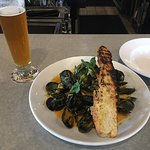 Coconut Curried Mussels and a Naked Ox Pale Ale