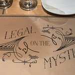 Placemat from Legal on the Mystic - Assembly Row, Somerville, MA
