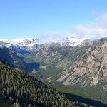Snowcapped mountains on the Beartooth Hwy