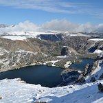 Frozen Lake near the summit