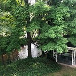 The view of the river & gazebo of Helen's Summer Room.
