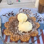 waffle, nutella and ice cream! so amazingly delicious! port side vibe!