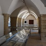 Cartoon exhibition upon entry to The Palace of Beiteddine