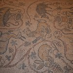 A floor mosaic at the Palace of Beiteddine