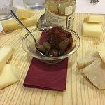 Cheese platter with mostarda albicocca & zucca