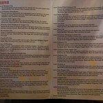 Extensive Gin menu