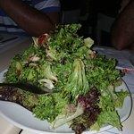 Koralli salad, risotto alla marinara e calamaro ripieno