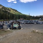 parking lot at trailhead
