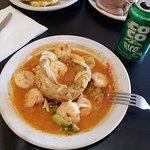 Shrimp Mofongo & Coco Rico