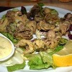 Moscardini Fritti (Fried curled octopus)