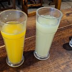 FRESH squeezed juices, absolutely delicious