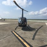 Our helicopter prior to takeoff