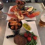Lobster and fillet steak