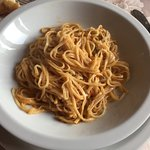 Tajarin with porcini mushroom sauce