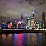 Shanghai skyline off the Bund