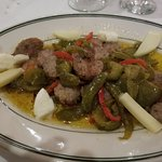 Spicy Sausage and peppers - excellent and very generous appetizer