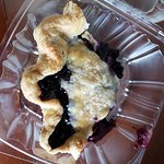 Blueberry Pie to go. Looks small but it was actually a big slice.