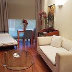 Sala con camas supletorias