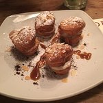 Choux puffs with Espresso cream and almonds