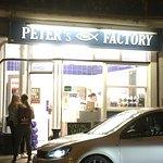Peters fish factory at night!