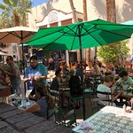 Lively back patio with live music and livelier guests!