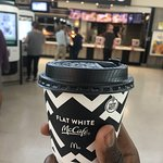 McDonald's flat white better and cheaper than Costa any day. Thanks for saving the day.