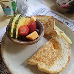 Kids grilled cheese and fruit cup