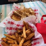 Sides of French Fries and Potato Chips