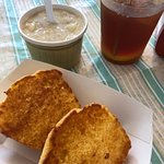 Side of New England Clam Chowder and bread