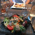 Foie gras & smoked fish salad