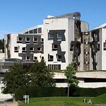 Scottish Parliament Building from the Patio.