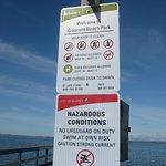 Sign at dock.