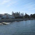 Sea wall at Crescent Beach.