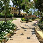 Walkway to rooms and seaside