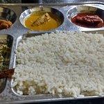Fish curry thali