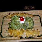 Banana (Japanese style) with ice cream