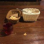 Сразу же приносят Морс и хлеб