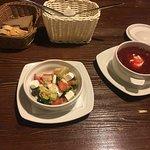 Салат и суп